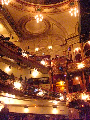 Victoria Palace Theatre just before I was kindly asked to not take photographs. We saw Billy Elliot here which was amazing.
