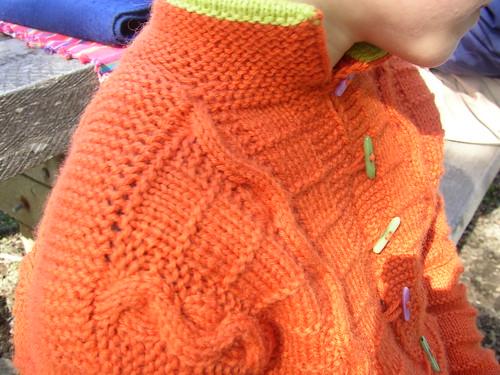 orange snakes shoulder collar