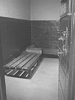 Cell No 2. There are four cells in this police station. the others have been given over to displays, but this was left as it wouldve been when the policestation was in service. Although intended for 2 men,