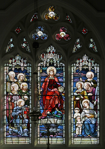 East window, All Saints, Lolworth by TheRevSteve