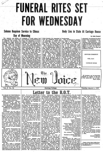 The New Voice student newspaper for March 4, 1969.