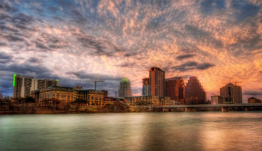 Beautiful Austin at Sunset (by Stuck in Customs)