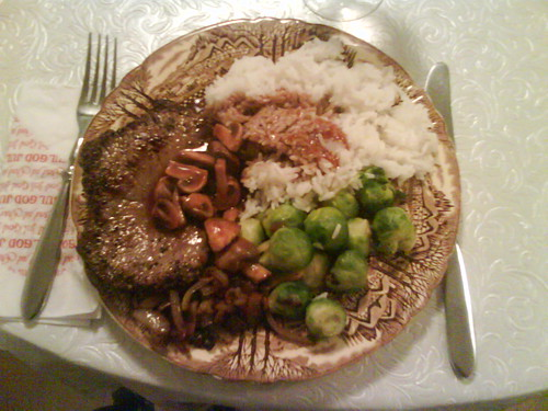 Rennys steak dinner