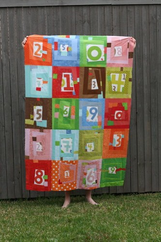Numbers Quilt - WIP: Top Pieced **need help with border**