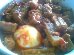 Ladies fingers masak sambal