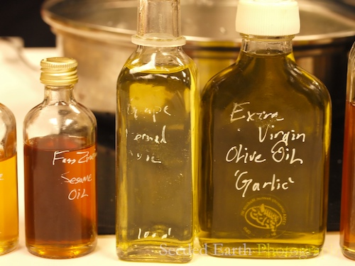 A Row of Gourmet Oils