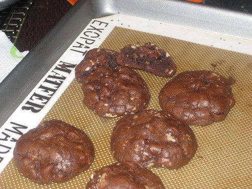 Shiny brownie cookies!