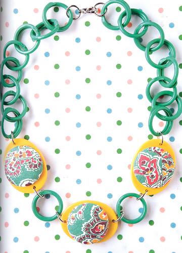 Naughty Secretary Club button necklace