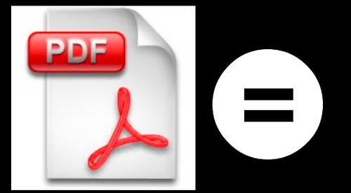 PDF is not a portable DATA format