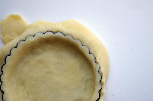 Pastry in tart dish