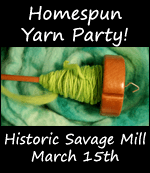 homespun yarn party