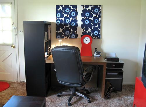 Desk + Marimekko.
