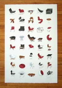 Mid-Century Modern Furniture Poster by J Provost  The Mid ...