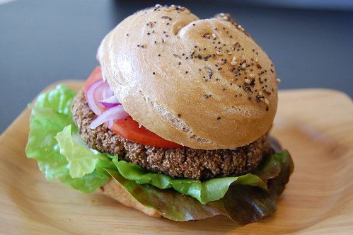 Red Kidney Bean Wild Rice Burgers