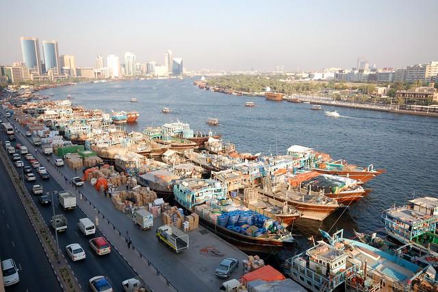 Dhow wharfage in Deira, Dubai Creek
