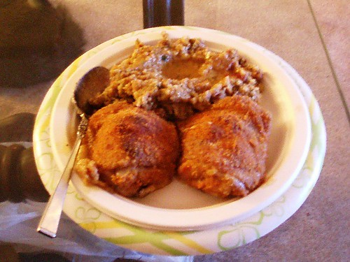 Baked Chicken with Stuffing & Chicken Gravy