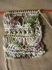lattice lace headband wip (by dyedinthewool)