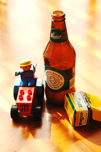 Lego, Beer and roll of black and white