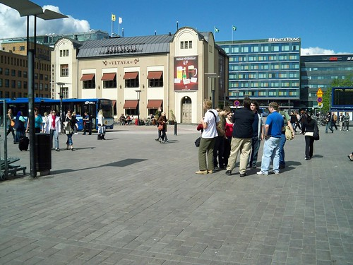 View of the city from station entrance - Helsinki