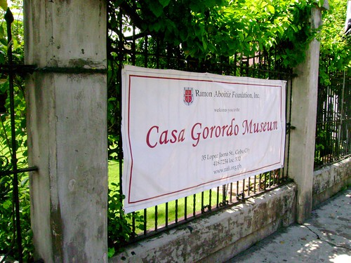 Banner at the entrance of Casa Gorordo