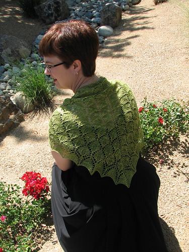 Leaf Lace Shawl: back