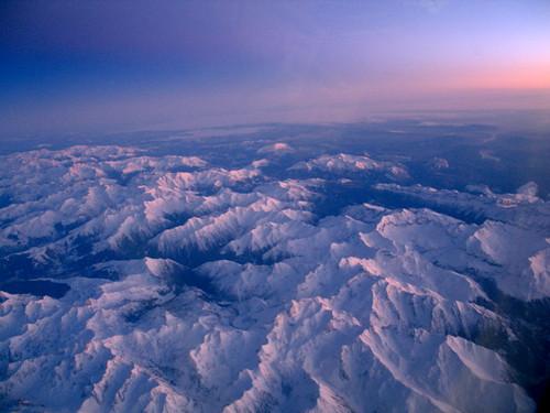 Pirineos desde el avión