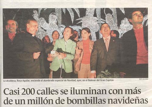 Inauguración alumbrado navideño 2006 en Córdoba.