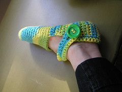Silly psychedelic slippers
