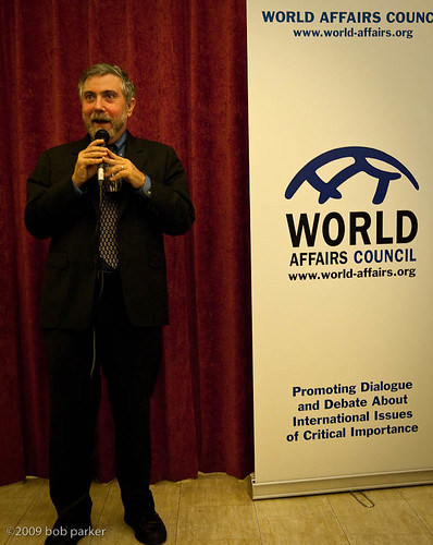 Krugman answering questions (by World Affairs Council<br /> of Seattle)