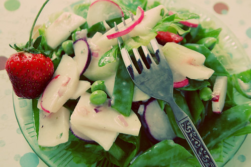 June Salad with Buttermilk Dressing