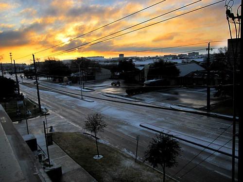 Dallas ice, January 2009 - photo by Lauren Allen