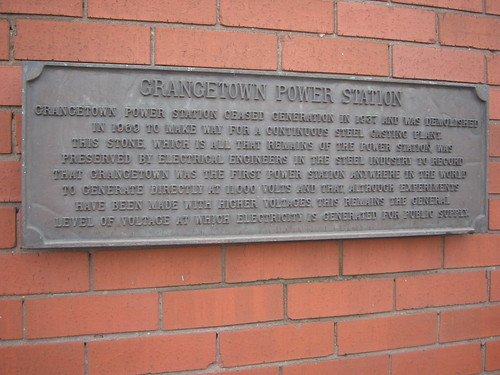 Grangetown Power Station Plaque