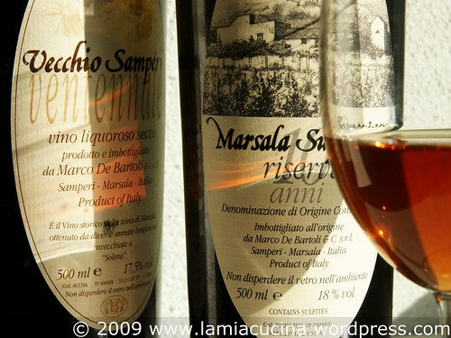 Vecchio Samperi 20 Jahre und Marsala Riserva 10 Jahre