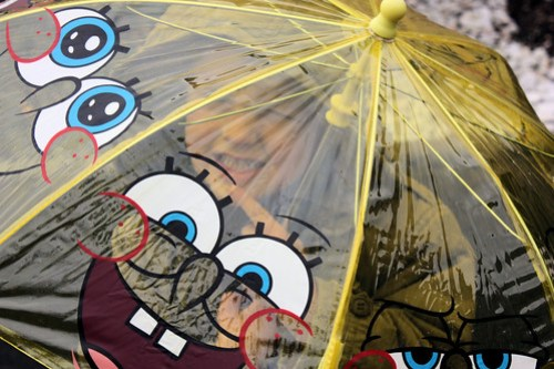 Spongebob umbrella // Parapluie Bob l'éponge