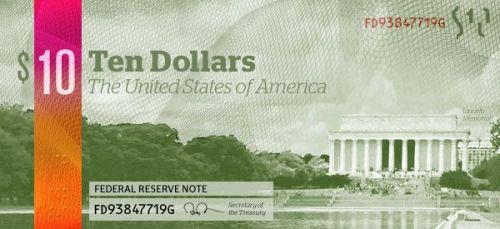 dolar 10 trasera