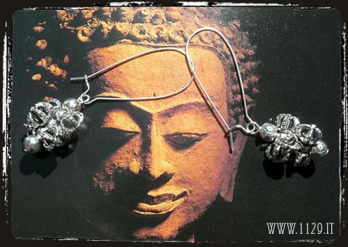 Orecchini argentati dorjie - Silver earrings IEDORJE