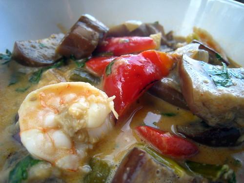 Eggplant and Shrimp Curry