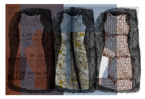 Three Spring Dresses. Computer Generated Print. 420mm x 297mm. 2007