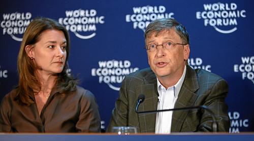 Melinda French Gates, Bill Gates - World Economic Forum Annual Meeting Davos 2009