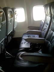 Side View of United Seats on Test 757 Cabin