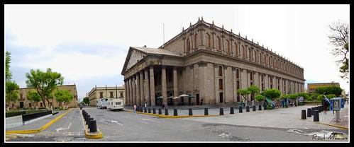 Panoramica Teatro Degollado Centro Guadalajara Jalisco Mexico