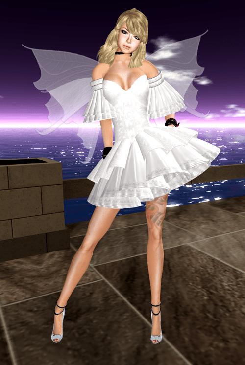 [K~*~S] Lynet Mini Dress - Snow