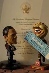 Barack Obama with racing president Teddy Roosevelt from philliefan99 on flickr
