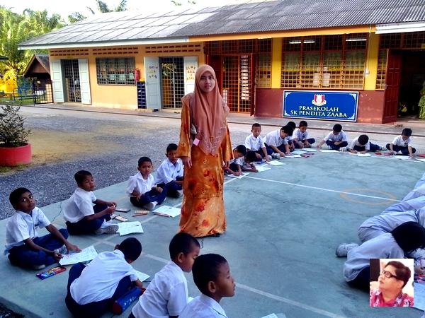 kelihatan seorang guru muda yang terlibat sama.. ni yang paling muda di SKPZ!! huhu