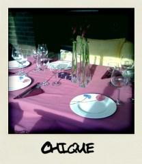 De tafel is al gedekt..