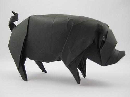 Ground Pork (take 5) by Joseph Wu Origami.