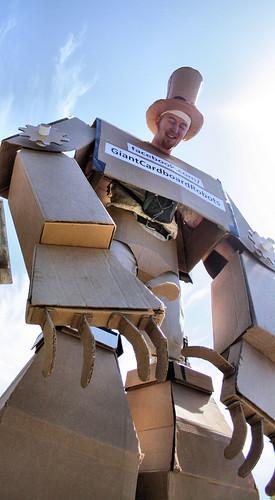 Giant Cardboard Robots
