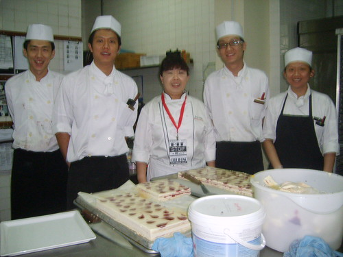 Pastry Chef Irene and her team
