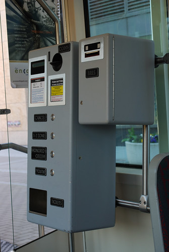 Fare machine on the Portland Streetcar