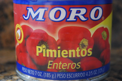 Canned fried red peppers - a staple in the Spanish kitchen
